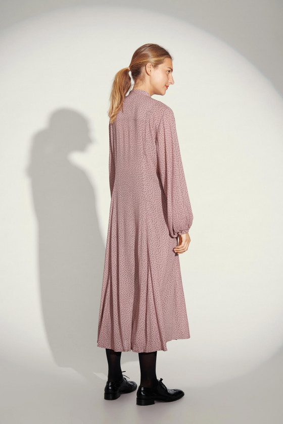 YUKI DOT LONG DRESS