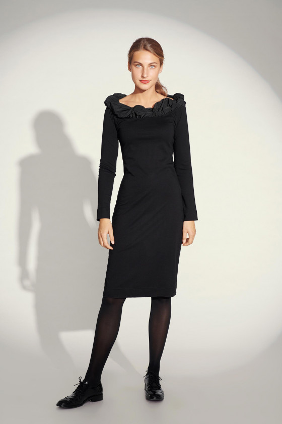 SCULPT JERSEY DRESS
