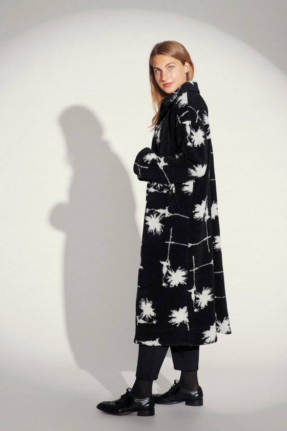 DAHLIA CHESS LONG COAT