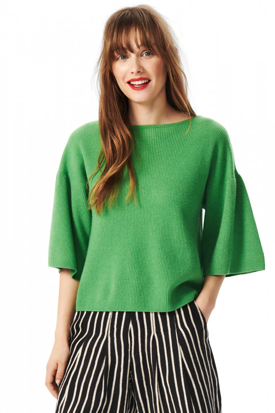 CLOUD CASHMERE BLOUSE WITH BOATNECK