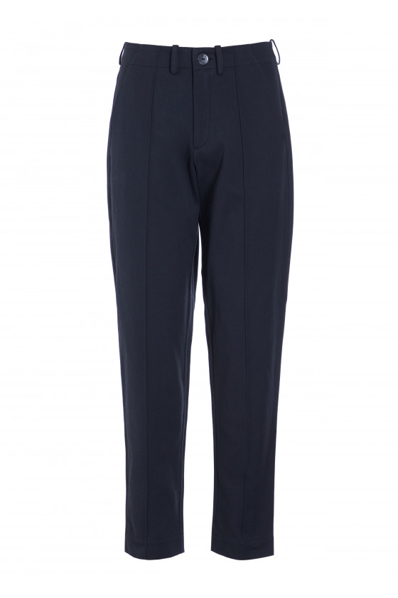 GARCON TWILL TROUSERS WITH PLEATS